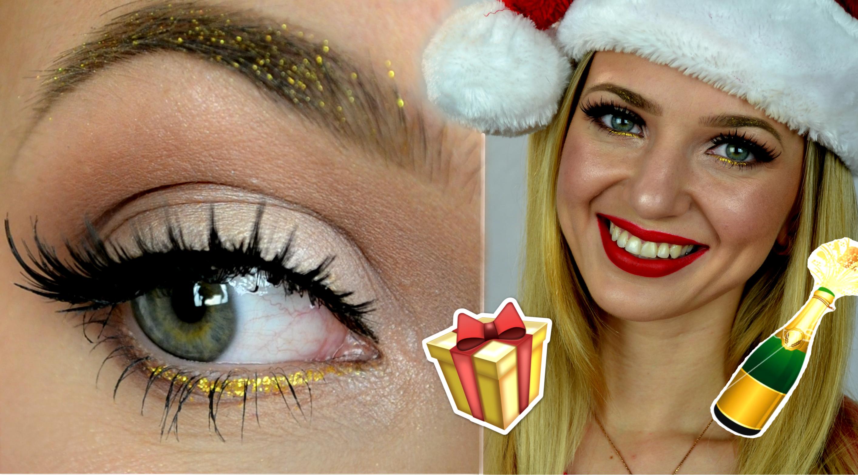 Christmas Glam Makeup Look